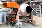 Portable concrete mixer — Stock Photo