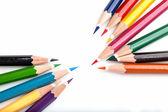 许多彩色铅笔 — 图库照片