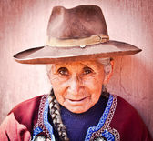 Peruvian lady — Stock Photo