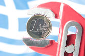 Greece Euro Crisis — Stock Photo