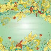Decoratrive card — Stock Vector