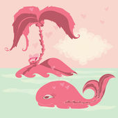 Sea vector illustration. — Stock Vector
