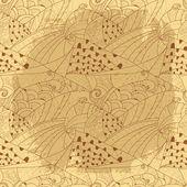 Seamless abstract hand-drawn pattern — Wektor stockowy