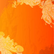Grunge orange background - Imagen vectorial