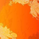 Grunge orange background — Stock Vector