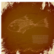 Royalty-Free Stock Imagen vectorial: Vector oriental fish