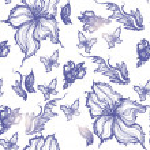 Exotic flower vintage background — Stock Vector