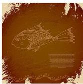 Vector oriental fish — Stock Vector