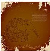 Vector tribal elephant — Stock Vector