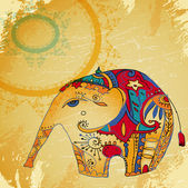 Oriental elephant background — Stock Vector