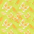 Stock Vector: Pattern with butterfly