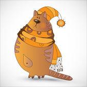 Afbeelding van de kat — Stockvector