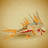 Decorative fish — Stock Vector