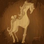 Wooden horse — Stock Vector