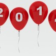 Red Balloons 2014 - New year — Stock Photo #21520679