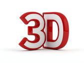 Contour de trois dimensions 3d - texte - rouge — Photo
