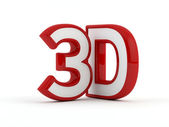 Three dimensional - 3D text - Red outline — Stock Photo