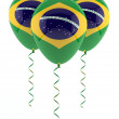 Brazilian flag balloon — Stock Photo