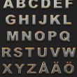 Chromed alphabet — Stock Photo