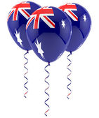 Austrailian flag balloon — Stock Photo