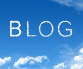 Cloud Blog — Stock Photo