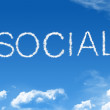Cloud social — Stock Photo