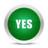 Yes glossy button — Stock Photo