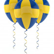 Swedish balloons - Flag — Stock Photo