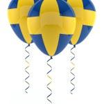 Swedish balloons - Flag — Stock Photo