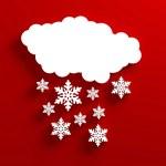 Snow cloud christmas red — Stock Photo