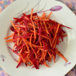 Royalty-Free Stock Photo: Salad of fresh beets and carrots with flax seeds