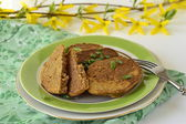 Cutlet, chicken liver fritters — Stock Photo