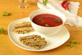 Baked eggplant gratin with tomato sauce — Stock Photo