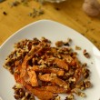 Stock Photo: Baked pumpkin with walnuts