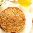 Pumpkin pancakes, crepes, (selective focus) — Stock Photo