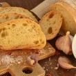 Stock Photo: Fresh bread - ciabatta, chili and garlic