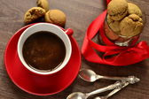 Coffee cup and cookies — Stock Photo