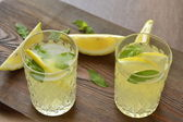 Fresh lemonade with mint — Stock Photo