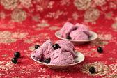 Нomemade вlackcurrant ice cream — Fotografia Stock
