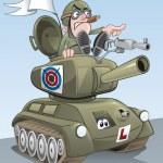 Battle Tank — Stock Vector