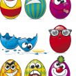 Royalty-Free Stock Vector Image: Easter Egg Faces