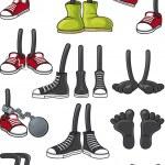 Cartoon Feet Collection — Stock Vector #20216359
