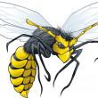 Stock Vector: Wasp