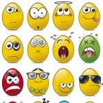 Egg Shaped Emoticon Cartoon Collection. — Stock Vector #20300845