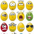 Royalty-Free Stock Vector: Egg Shaped Emoticon Cartoon Collection.
