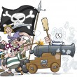 Stock Vector: Cartoon Pirates
