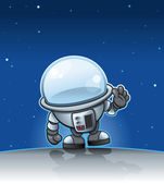 Cartoon Spaceman — Stock Vector