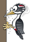 Cartoon Woodpecker — Stock Vector