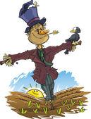Cartoon Scarecrow — Stock Vector