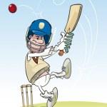 Cricketing Batsman — Stock Vector #25449537